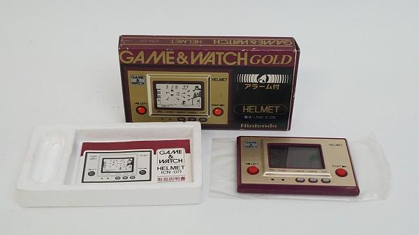 2015/05 任天堂 GAME&WATCH GOLD CN-07 ゲームウォッチ ヘルメット 3000円買取