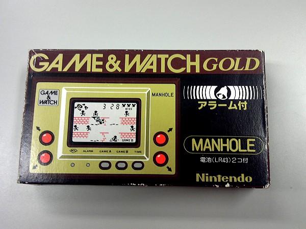 2015/05/ 任天堂 ゲームウォッチゴールド マンホール 3600円買取
