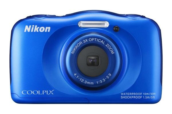 2015/07 Nikon デジタルカメラ S33 防水カメラ 1317万画素 ブルー 5000円買取
