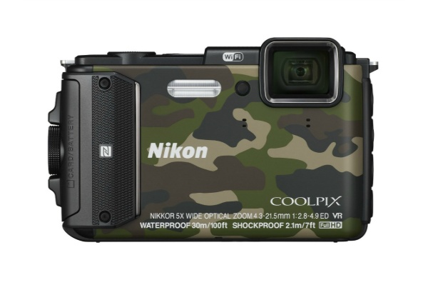 2015/08 Nikon デジタルカメラ COOLPIX AW130 カムフラージュグリーン 18000円買取