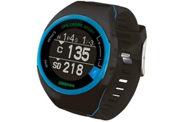 2015/11 GreenOn ゴルフナビ GPS ザ・ゴルフウォッチ スポルト ブラック×ブルー GWS-BBL 6000円買取