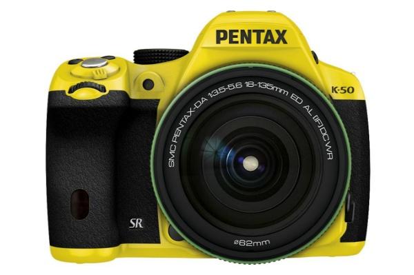 2015/11 PENTAX K-50 デジタル一眼レフ イエロー DA18-135mmWRレンズキット 18000円買取