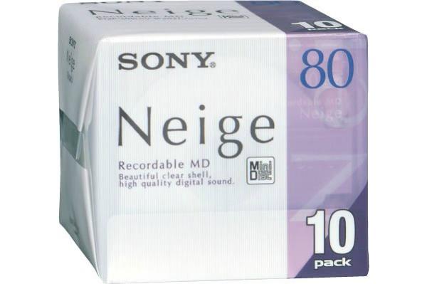 2016/07 ソニー SONY 10MDW80NED ミニディスク 80分10枚組 1000円買取