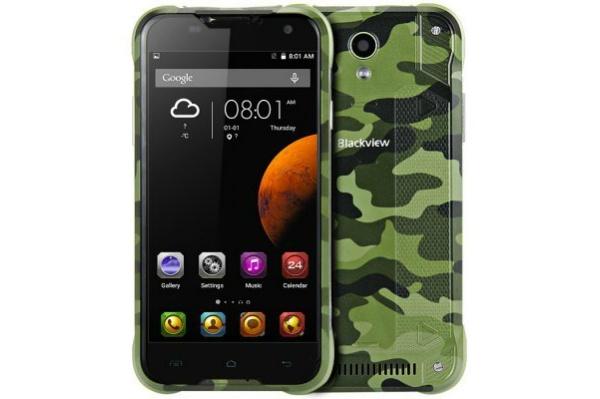 2017/04 Blackview BV5000 MTK6735P カモフラージュカラー グリーン SIMフリースマートフォン 4000円買取