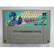 "SFC ロックマン7 宿命の対決!</br>ソフトのみ </br><font size=""6px"" color=""yellow"">1200円</font>"